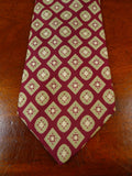 19/1683 immaculate vintage weatherills savile row red / gold pattern silk tie
