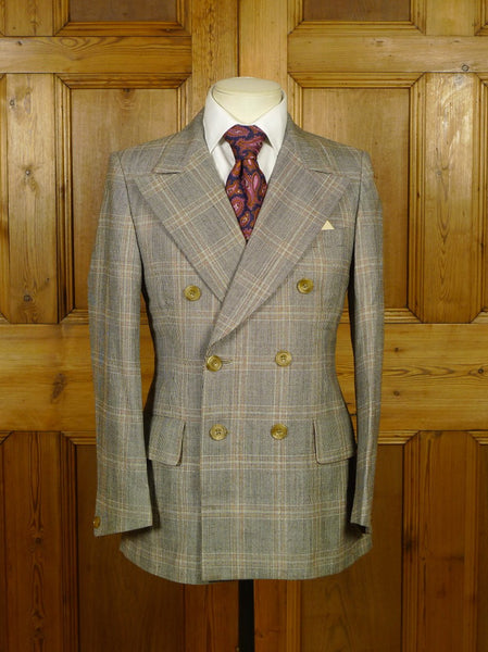 19/1677 wonderful vintage tommy nutter styled austin reed cue design bold wp check d/b sports jacket blazer 36 short