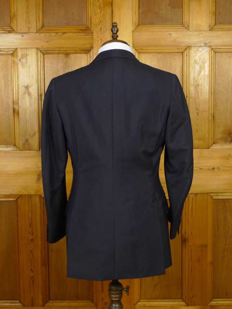19/1678 vintage 1968 dege savile row bespoke dark navy blue mohair blazer 39 regular to long