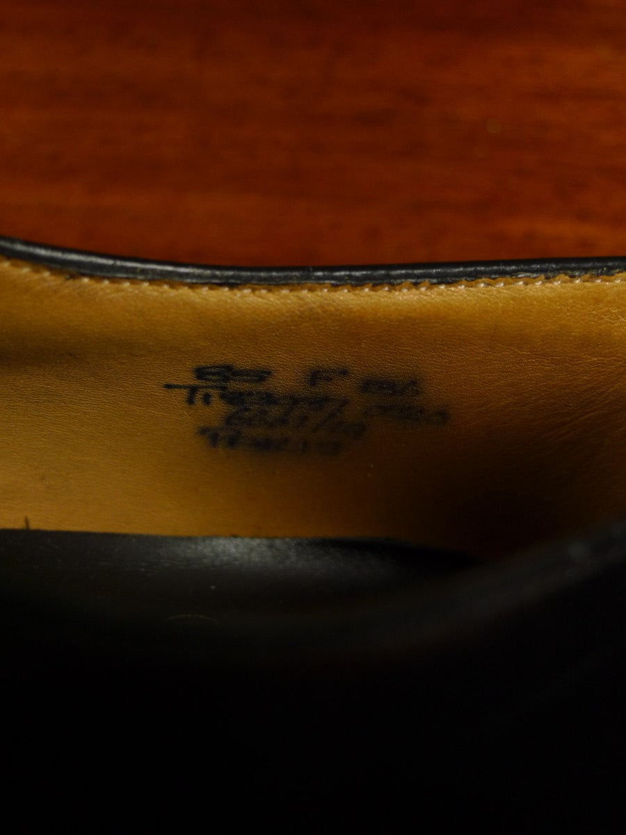 19/1697 near immaculate church's 'paris' black leather lace-up shoe w/ bags 8.5