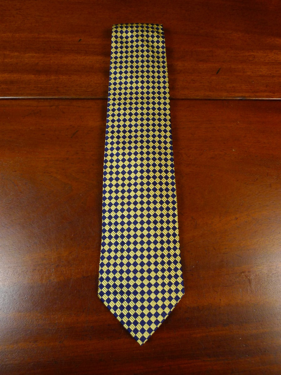 19/1785 immaculate harvie and hudson gold / navy blue 100% silk tie