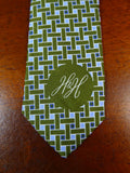 19/1717 immaculate harvie & hudson sky blue / teal all silk tie