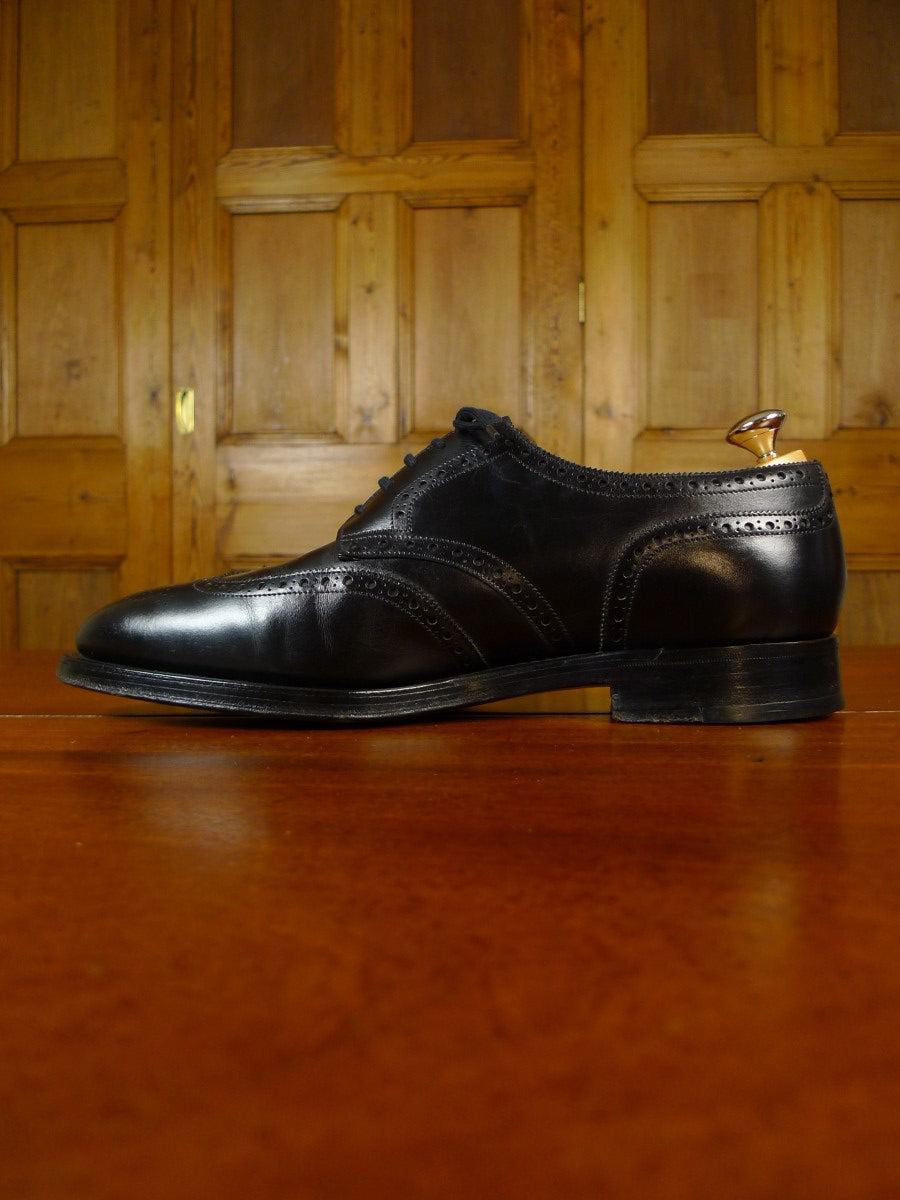 19/1709 immaculate john lobb DARBY black brogue shoe w/ trees & bags uk 8.5 E (RRP £1250)