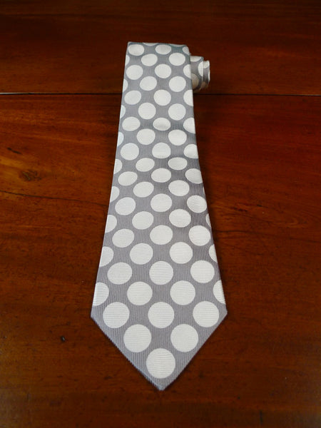 19/1774 immaculate turnbull & asser silver / cream 100% silk tie