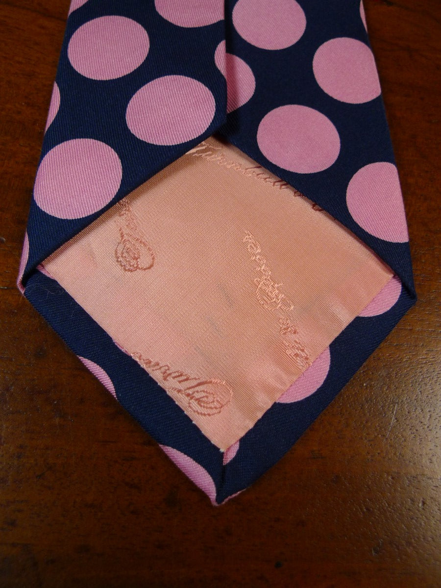 19/1771 immaculate turnbull & asser pink/ navy blue 100% silk tie