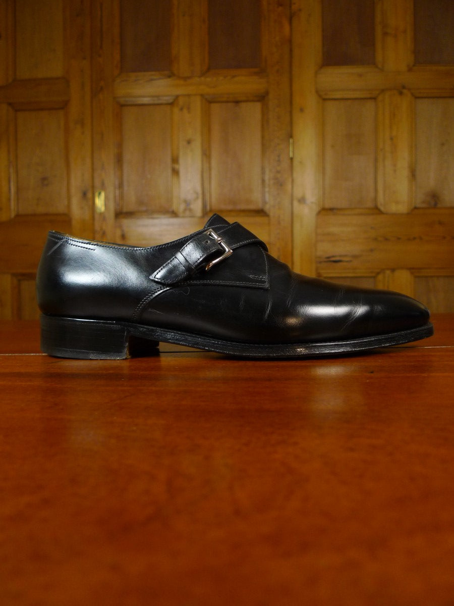 19/1729 immaculate john lobb ASHILL BLACK MONK shoe w/ trees & bags uk 8.5 E (RRP £1250)