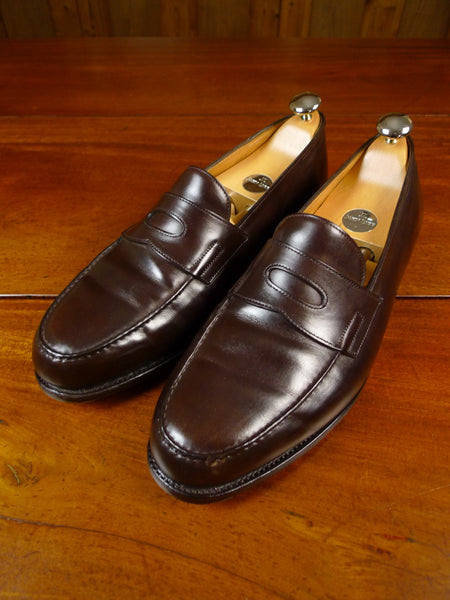 19/1726 immaculate john lobb LOPEZ BROWN LOAFER shoe w/ trees & bags uk 8.5 E (RRP £1000)