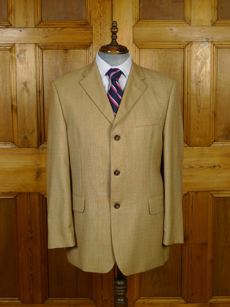 19/1761 immaculate italian wool lightweight graph check sports jacket blazer 44-45 regular