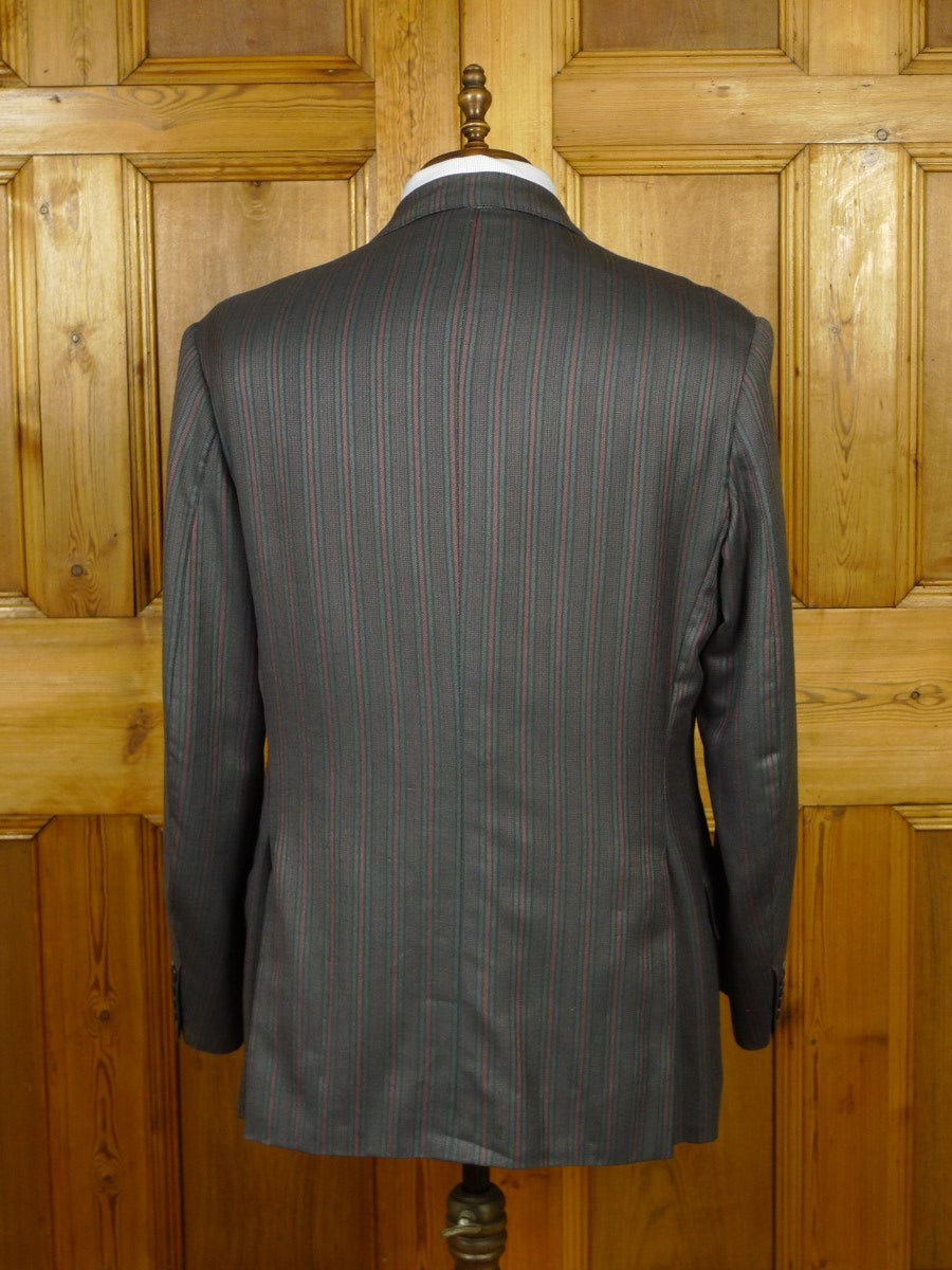 19/1762 vintage 1985 bespoke tailor canvassed boating style blazer sports jacket 44-45 short to regular