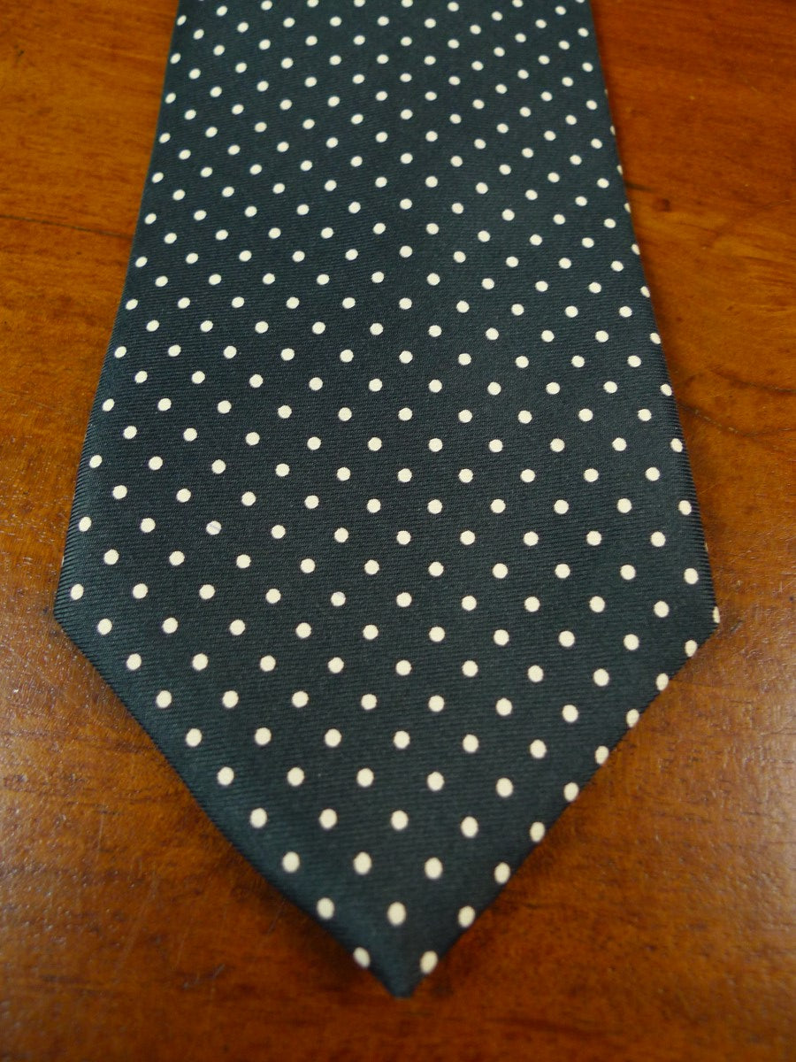 19/1776 hayward savile row black / white polka dot 100% silk tie