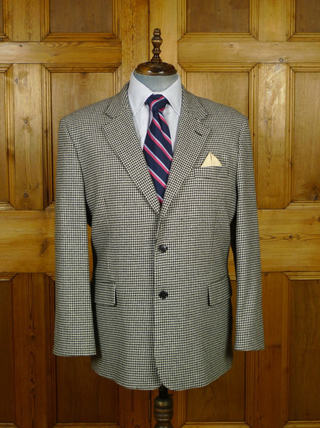 19/1800 immaculate pure cashmere dogtooth check sports jacket blazer 48 short