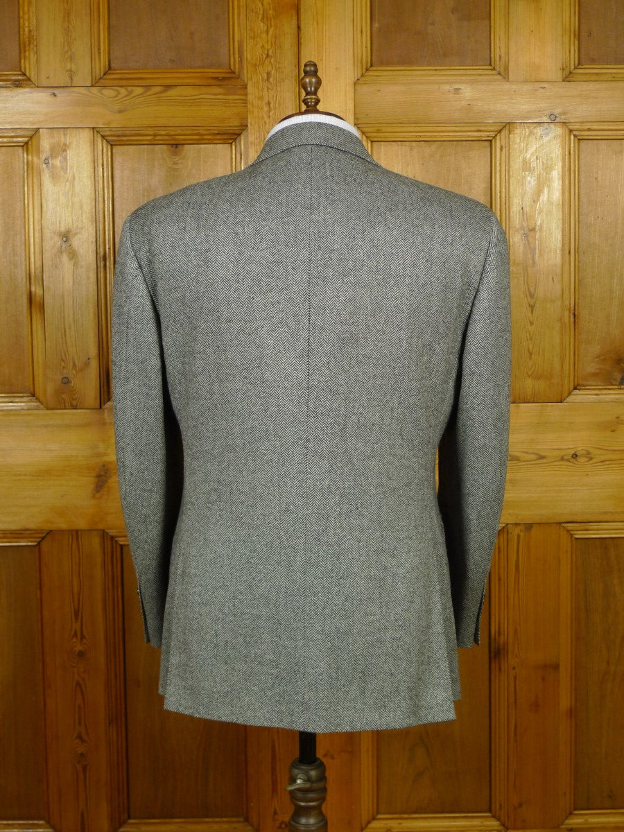 19/1794 immaculate harrods grey herringbone wool sports jacket blazer 44 regular