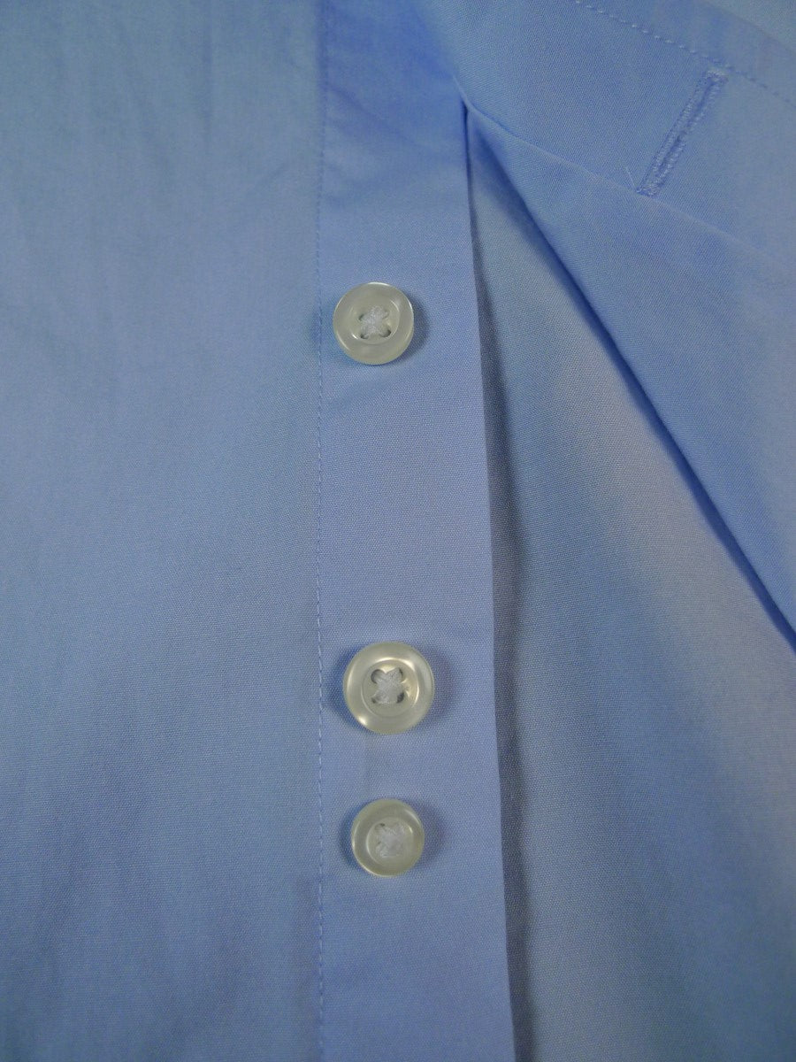 19/1817 immaculate hawes & curtis jermyn street pale blue 100% luxury cotton shirt 16.5