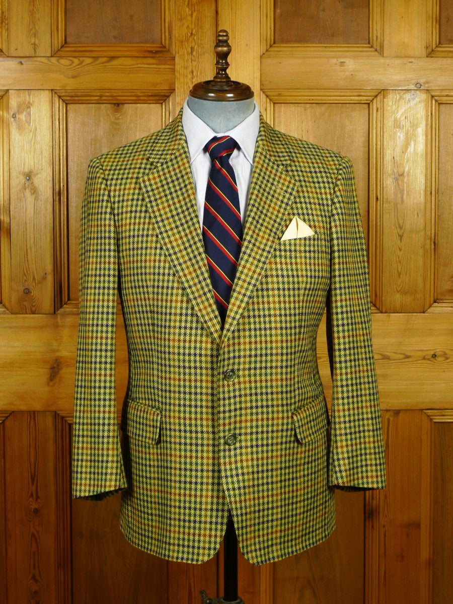 20/0019 vintage burberry 100% cashmere gun club check sports jacket blazer 40 short