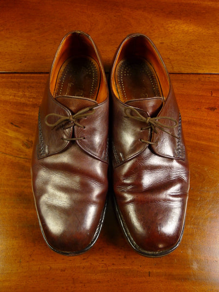20/0033 excellent vintage loake bros brown country shoe w/ commando sole 10.5 ee
