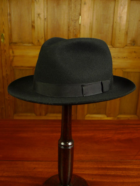 20/0035 NEW DENTON HATS HAND MADE GREY WOOL FELT TRILBY 59 CMS