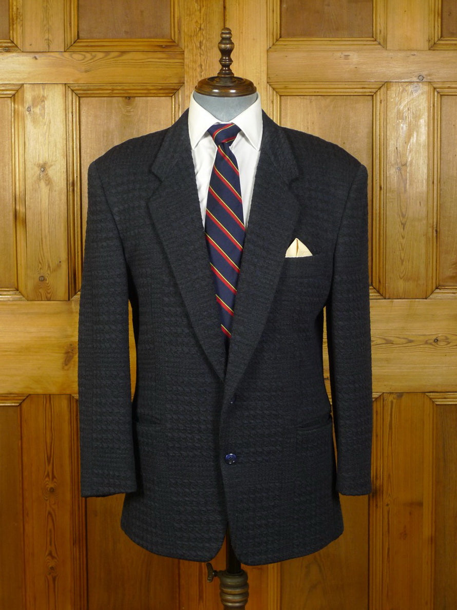 20/0097 immaculate vintage gianfranco ferre 2-tone navy blue textured wool blazer 42 regular