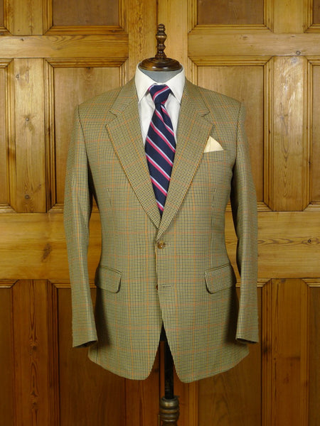 20/0111 immaculate 1997 bespoke tailored john g hardy gun club check sports jacket 41-42 regular