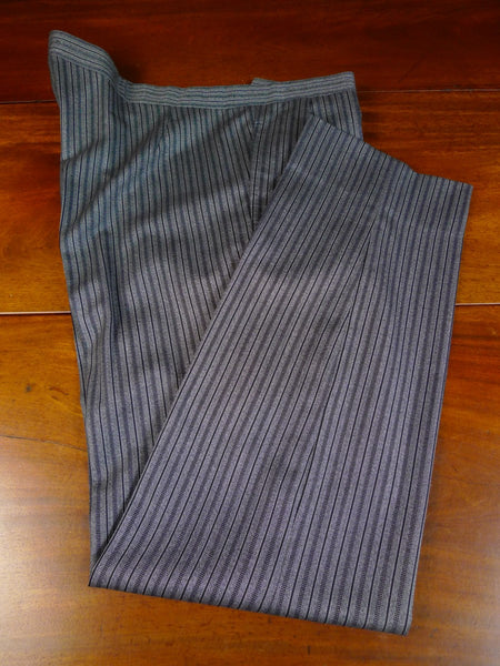 20/0117 immaculate 1999 anderson & sheppard savile row bespoke 'cashmere stripe' wool morning trouser 41