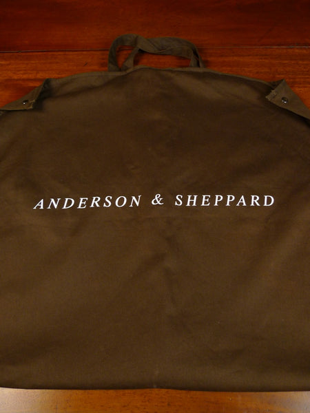 20/0115 immaculate anderson & sheppard savile row bespoke brown cotton drill suit carrier
