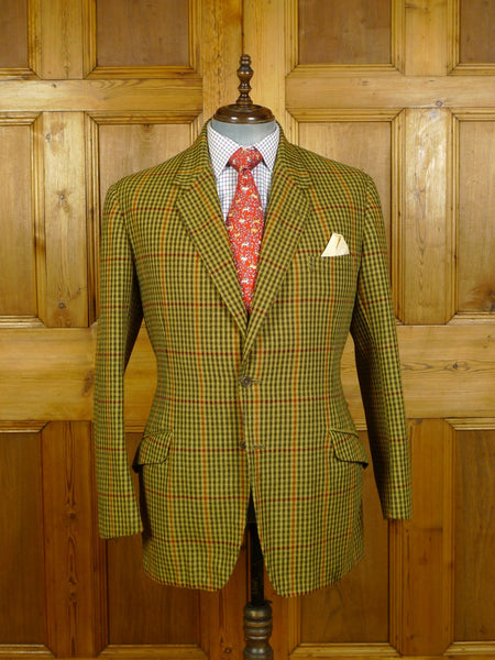 20/0127 vintage 1971 bespoke tailored heavyweight gun club check tweed jacket 41-42 regular