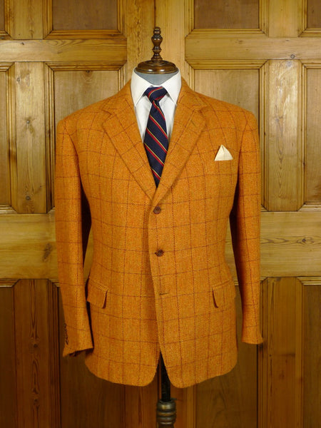 20/0142 stunning 2005 anderson & sheppard savile row bespoke wp check tweed sports jacket 48 short to regular