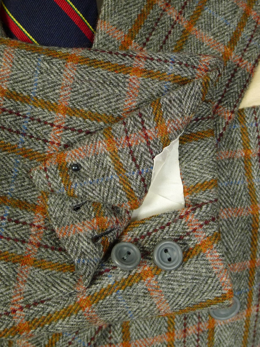 20/0145 immaculate richard anderson 2013 savile row bespoke bold check d/b tweed sports jacket blazer 40 regular