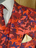 20/0166 amazing 2017 bespoke tailored cotton denim 4-piece 'camouflage' suit made for famous dandy 43-44 regular