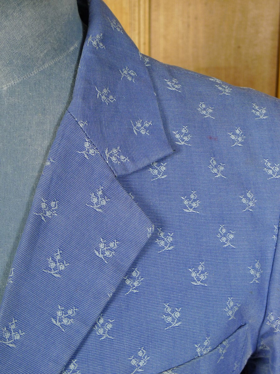 20/0168 amazing william hunt savile row bespoke embroidered cotton & silk suit made for famous british dandy 40 regular