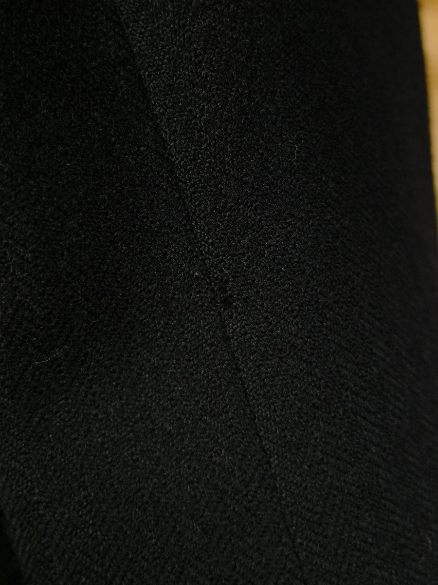 20/0169 vintage 1953 canvassed black herringbone wool morning coat 36 regular to long