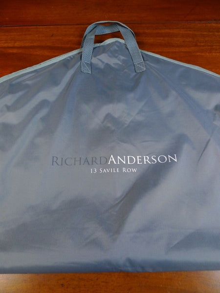 20/0180 richard anderson savile row bespoke grey suit hanger bag