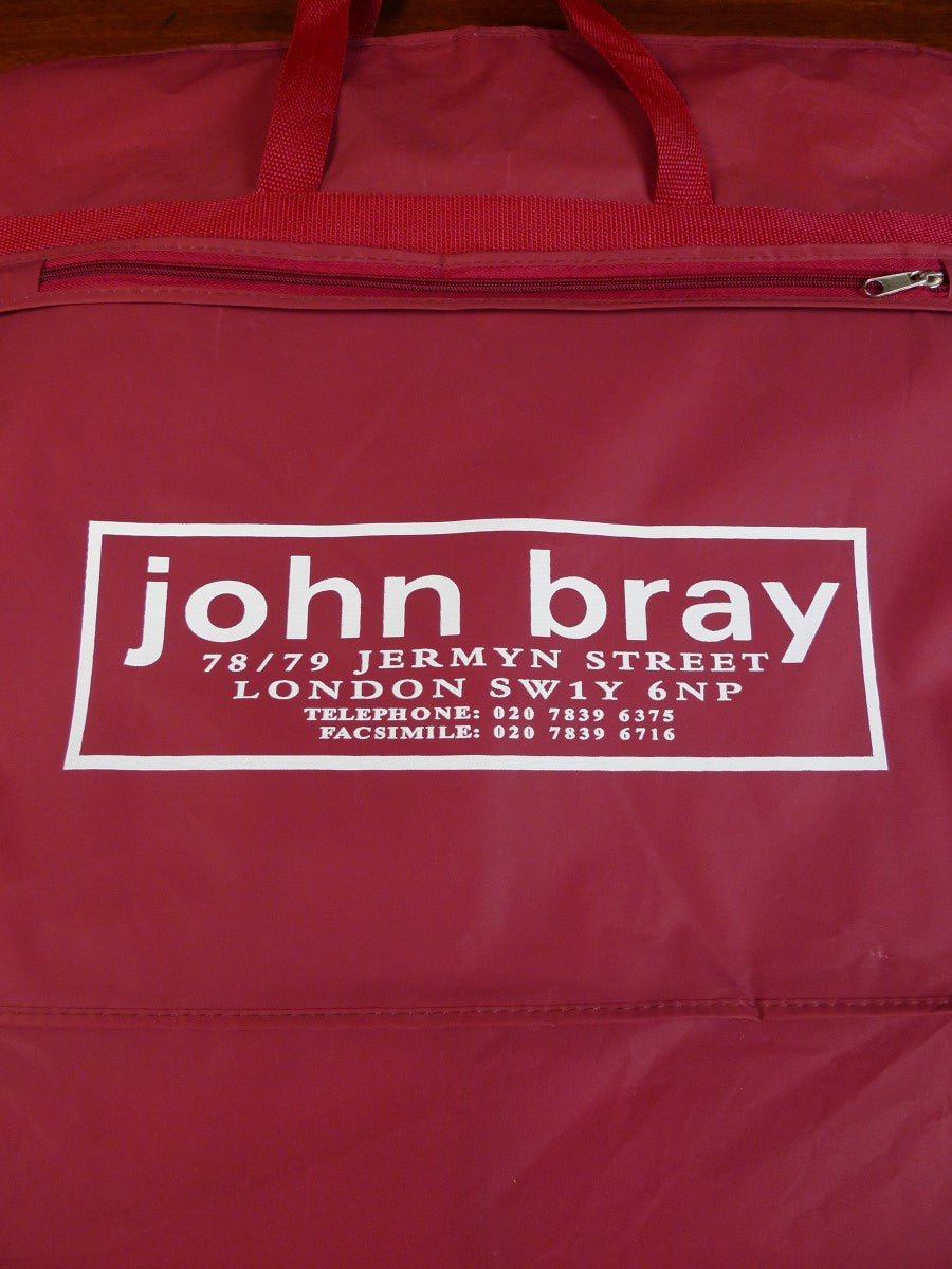 20/0179 john bray jermyn street red suit hanger bag