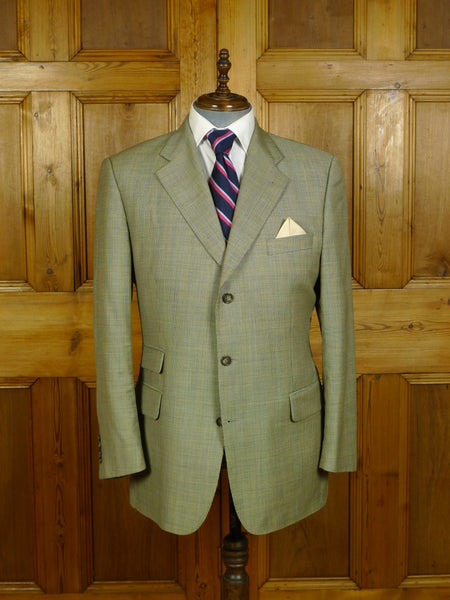 20/0190 immaculate vintage burberry's wp check lightweight wool sports jacket blazer 42-43 regular