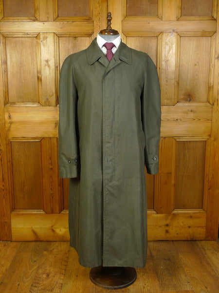 20/0202 cerruti 1881 for harrods green full-length raincoat mac 42-44
