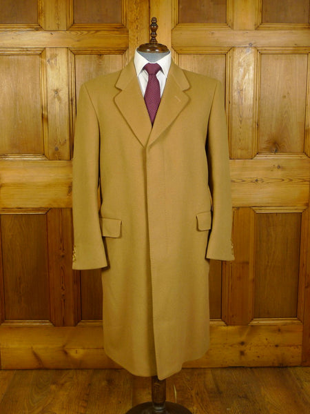 20/0278 immaculate vintage british tailor wool camel coat overcoat 45 regular