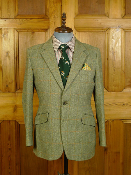 20/0283 near immaculate john g hardy green wp check tweed jacket 39-40 short