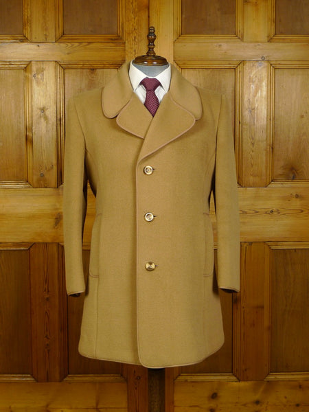 20/0293 superb mint vintage gannex textured herringbone camel coat overcoat 42-44 regular