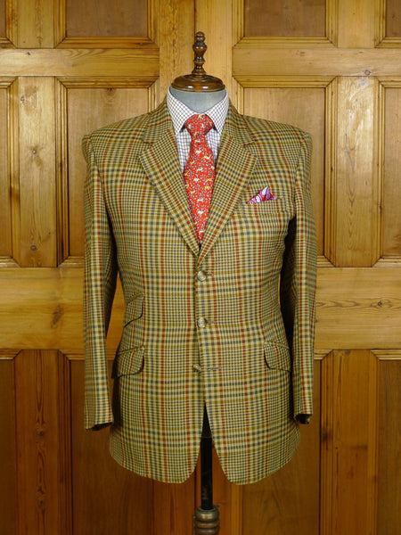 20/0316 immaculate vintage british wp check tweed hacking style jacket 41-42 regular