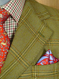 20/0341 immaculate vintage british green wp check tweed twill jacket 40 short