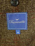 20/0343 immaculate faconnable wool & cotton sports jacket blazer w/ elbow patches (rrp £300) 40 regular to long