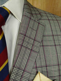 20/0344 immaculate modern daks london grey / red glen check sports jacket blazer w/ suede elbow patches (rrp £400) 40-41 long