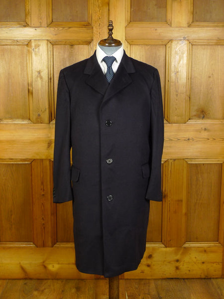20/0353 superb vintage rodex (aquascutum) maroon  blue 100% cashmere overcoat coat 44 regular