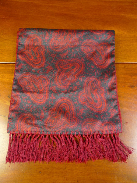 20/0367 vintage tootal red & black paisley pattern scarf