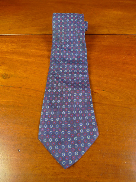 20/0376 immaculate hardy amies blue maroon silk tie