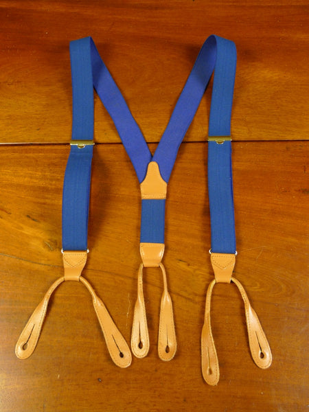 20/0370 immaculate quality blue elasticated multifit braces