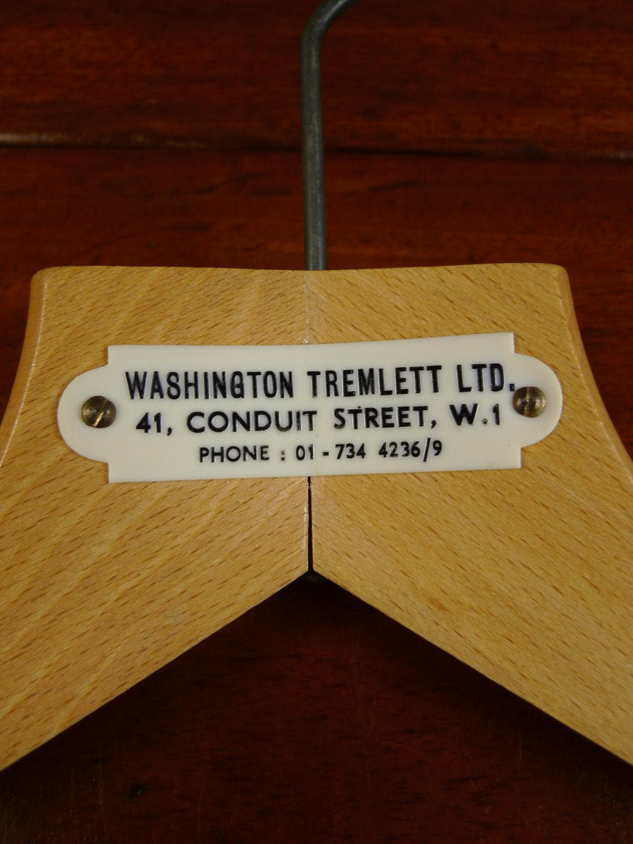 20/0394 vintage washington tremlett conduit st savile row bespoke best quality wooden suit hanger