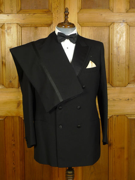 20/0450 vintage harrods bespoke personal tailor canvassed barathea wool d/b dinner suit 44 regular