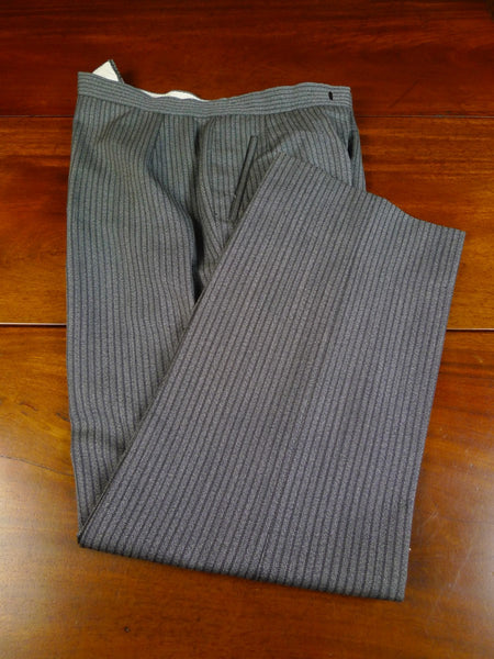 20/0451 vintage harrods bespoke 'cashmere stripe' wool morning trouser (some damage) 38