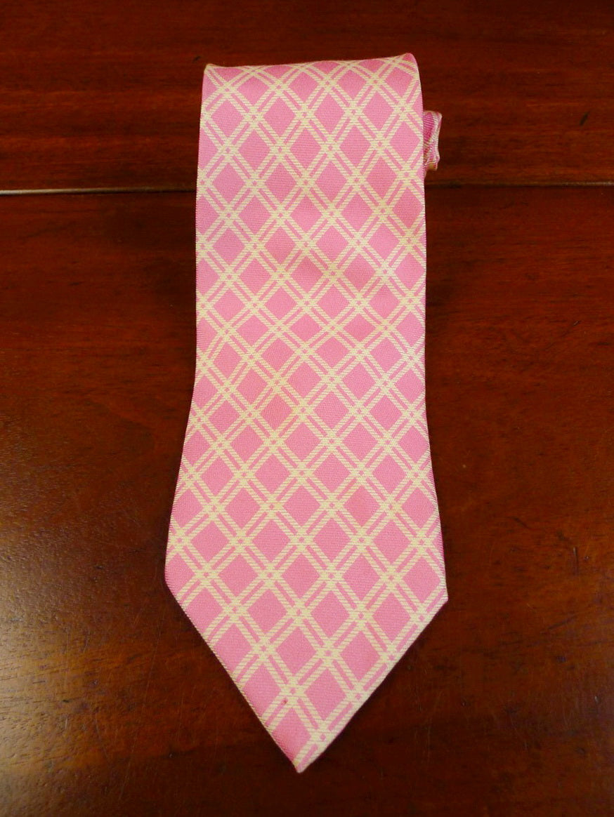 20/0460 hayward savile row pink lattice pattern silk tie
