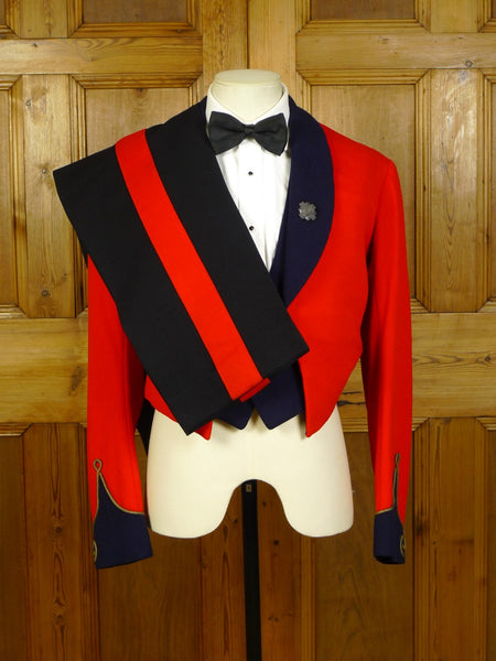 20/0466 superb vintage 1956 meyer & mortimer savile row bespoke british arm officer 3-piece mess dress uniform 36 regular